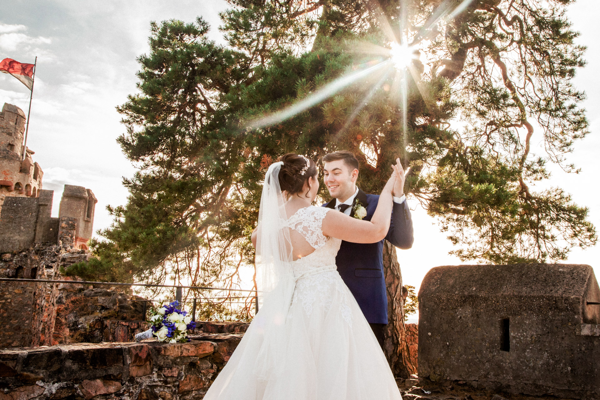 Hochzeitspaar, Auerbacher Schloss, Hochzeitsafotografie